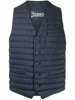 Herno quilted V-neck gilet PC0039U19288