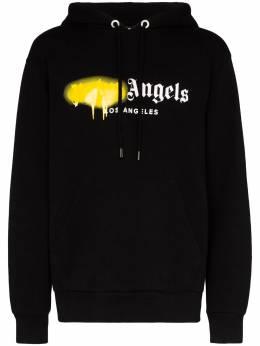 Palm Angels Los Angeles Spray logo print hoodie PMBB003S206360641060