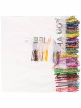 Faliero Sarti шарф с вышивкой и бахромой E201066