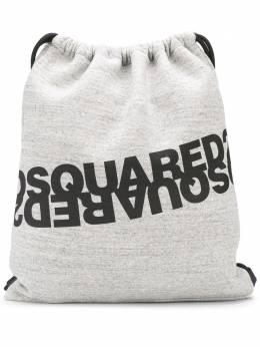 Dsquared2 logo-print jersey backpack BPM003516702628