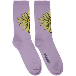 Jacquemus Purple Les Chaussettes Fleurs Socks 205AC08-205 7254X