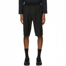 3.1 Phillip Lim Black Wool Tapered Shorts F181-5536LWSM