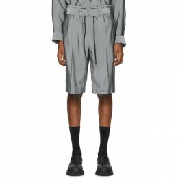 3.1 Phillip Lim Grey Drawstring Cargo Shorts S202-5092VTSM