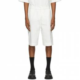 3.1 Phillip Lim Off-White Poplin Washed Shorts S202-5361WPOM