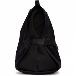 132 5. Issey Miyake Navy and Black Obi backpack IL06AG205