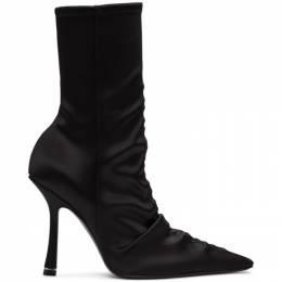 Alexander Wang Black Satin Vanna Boots 30C120P102