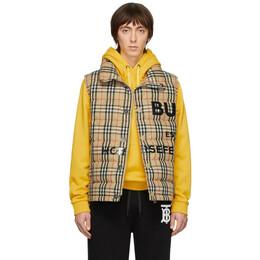Burberry Beige Down Check Vest 8023673