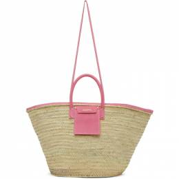 Jacquemus Beige and Pink Le Grand Panier Soleil Tote 201BA08-201 61400