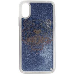 Kenzo Blue Glitter Tiger Head iPhone X/XS Case FA5COKIFXTLI