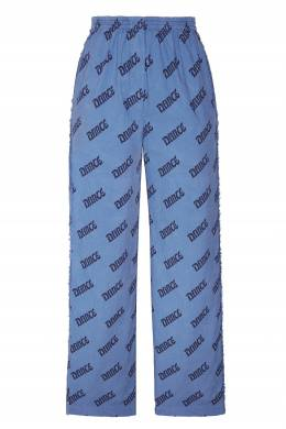Синие хлопковые брюки с принтом Acne Studios 876109135