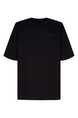 Черная футболка с вышитым логотипом Unravel Project 2852114255