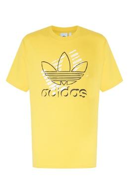 Желтая футболка Trefoil Art Adidas 819111308
