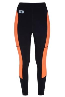 Черные леггинсы с оранжевыми вставками T By Alexander Wang 368113707