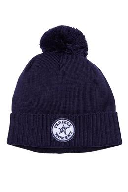 Синяя шапка с помпоном Perfect Moment 2581104371