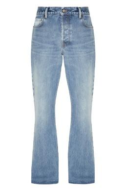 Слегка расклешенные джинсы с потертостями Balenciaga Man 2673111256