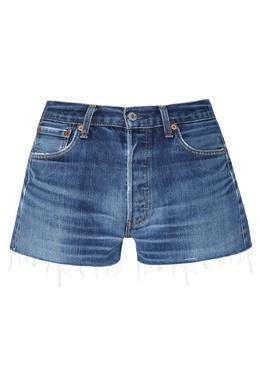 Синие джинсовые шорты с потертостями Re/Done 1781106387