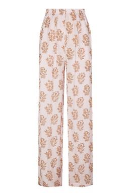 Свободные розовые брюки с принтом Acne Studios 876116862