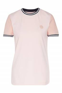 Розовая футболка с контрастной отделкой Acne Studios 876125502