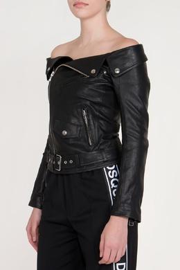 Кожаная куртка с открытой линией плеч Faith Connexion 2027183975