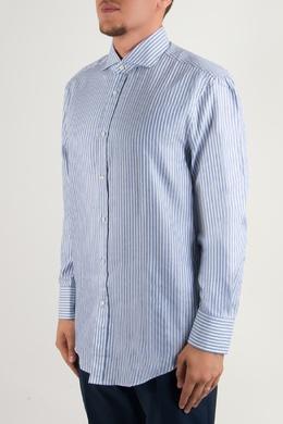 Рубашка с узором в полоску Brunello Cucinelli 1675183976