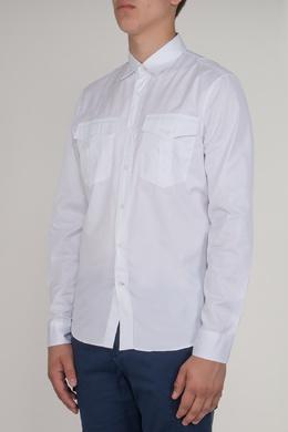 Белая рубашка с накладными карманами Brunello Cucinelli 1675183985