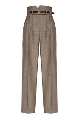 Серые брюки высокой посадки Fendi 1632180749
