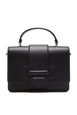 Черная кожаная сумка-портфель Emporio Armani 2706184028