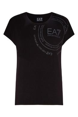 Черная хлопковая футболка Emporio Armani 2706183933