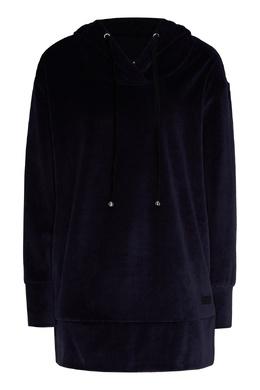 Темно-синее бархатное худи Emporio Armani 2706183875