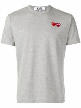 Comme Des Garcons Play футболка с нашивкой в виде сердец AZT226