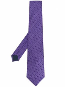 Lanvin галстук с геометричным узором 26591