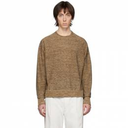 Lemaire Brown Crewneck Sweater M 201 KN188 LK092