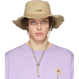 Jacquemus Beige Le Bob Artichaut Bucket Hat 205AC02-205 69120
