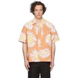 Jacquemus Orange La Chemise Jean Short Sleeve Shirt 205SH21-205 2072B