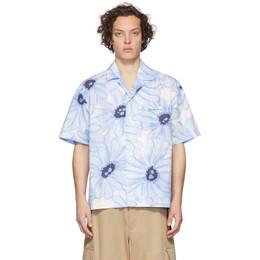 Jacquemus Blue La Chemise Jean Short Sleeve Shirt 205SH21-205 2134E