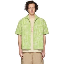 Jacquemus Green La Chemise Jean Short Sleeve Shirt 205SH21-205 04533