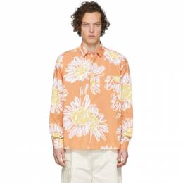 Jacquemus Orange La Chemise Simon Shirt 205SH01-205 2072B