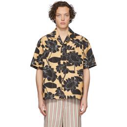 Jacquemus Yellow La Chemise Jean Short Sleeve Shirt 205SH21-205 0727F