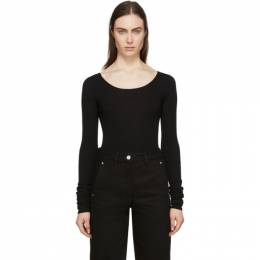Lemaire Black Second Skin Long Sleeve Pullover W 201 KN437 LK093