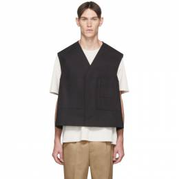 Jil Sander Black Structured Action Vest JSMQ460422_MQ241600
