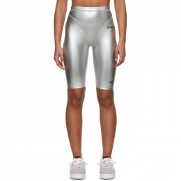 Adidas Originals By Alexander Wang Silver Metallic Bike Shorts FI6965