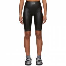Adidas Originals By Alexander Wang Black Faux-Leather Shorts FI6961