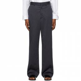 Vetements Navy Pinstripe Relaxed Trousers SS20PA144