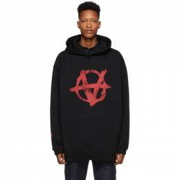 Vetements Black and Red Anarchy Hoodie SS20TR312