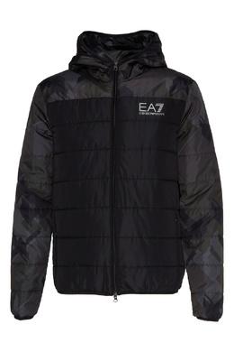 Черная куртка со вставками Emporio Armani 2706184053