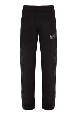Черные хлопковые брюки с логотипом Emporio Armani 2706184038