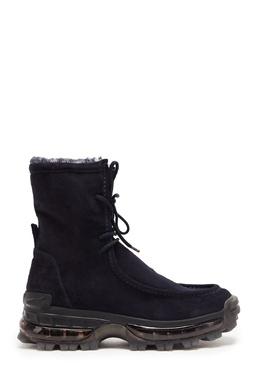 Кожаные ботинки на высокой подошве Emporio Armani 2706184139
