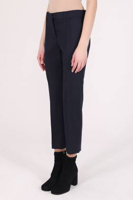 Укороченные брюки темно-синего цвета Prada 40183775
