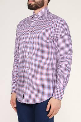 Розовая клетчатая рубашка Brunello Cucinelli 1675184173