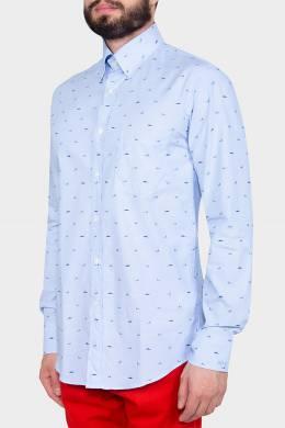 Полосатая рубашка с принтом Paul & Shark 2321183799